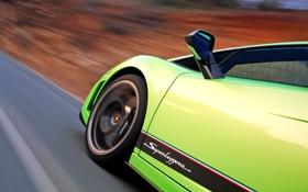Обои дорога, фон, скорость, колесо, дверь, класс, Lamborghini Gallardo