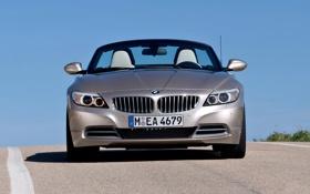 Обои Авто, BMW, Кабриолет, Серый, Серебро, Капот, День
