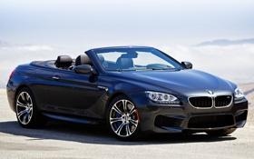 Обои car, BMW, автомобиль, передок, walls, Cabrio, мощный