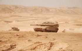Картинка пустыня, танк, Merkava