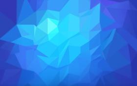 Обои Nubia UI, линии, синий, Абстракции, цвета