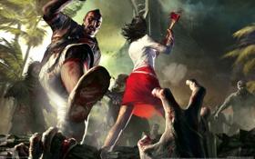 Картинка зомби, нападение, Dead Island