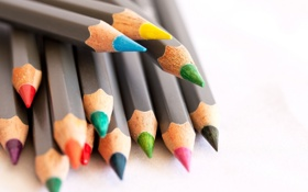 Картинка цветные, карандаши, канцелярия