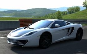 Обои McLaren MP4-12C, GT5, белый