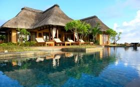 Картинка бассейн, Дом, Indonesia, Индонезия