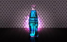 Обои сияние, блеск, синяя, Cola, Nuka