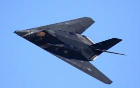 Картинка полет, самолёт, Lockheed, F-117, Nighthawk, ударный