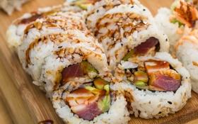 Обои рис, суши, роллы, начинка