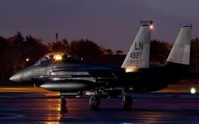 Картинка истребитель, Eagle, аэродром, F-15E