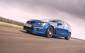 Обои Небо, Авто, Синий, Машина, Vauxhall, VXR8, В Движении