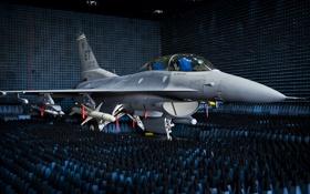 Картинка истребитель, F-16, Fighting Falcon, многоцелевой, тестирование