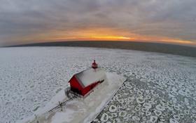 Обои Sunset, Michigan, Grand Haven
