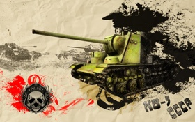 Обои арт, танк, СССР, танки, WoT, World of Tanks, КВ-5