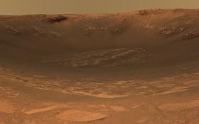 Обои кратер, поверхность планеты, марс