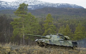 Обои природа, Норвегия, танк, бронетехника, Leopard 1