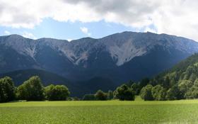 Обои Снег, Панорама, Multi Monitors, Зелень, Холмы, Горы, Фото