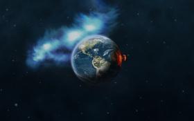Обои взрыв, катастрофа, Земля
