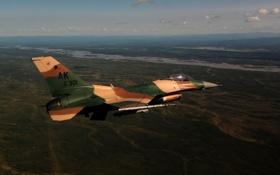 Обои истребитель, полёт, Fighting Falcon, F-16C