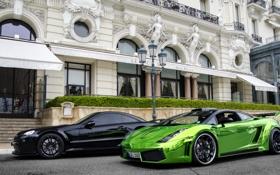 Обои Lamborghini, Mercedes, Gallardo, Monaco, AMG, Black Series, SL65
