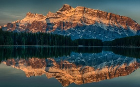 Обои пейзаж, горы, Alberta, Canada, Anthracite