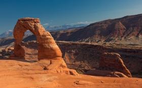 Картинка небо, пейзаж, горы, природа, арка, nature, mountains