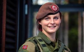 Картинка soldier, portrait, Cathrine, Norwegian Armed Forces