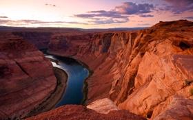 Обои природа, река, Arizona, USА, Glen Canyon, великий каньон