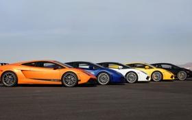 Обои Машины, Gallardo, Cars, Lamborgini, Ламборгини, Сбоку, Sportcar