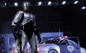 Картинка робот, Робокоп, киборг, фон, броня, RoboCop
