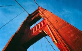 Картинка небо, мост, вид, арка