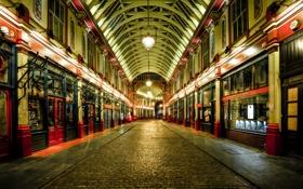 Картинка ночь, Англия, Лондон, Великобритания, night, London, England