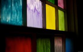 Обои закрашенные, окна, краски, цвета