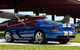 Обои Dodge, суперкар, Viper, вид сзади, Coupe, SRT10, Додж.Вайпер