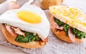 Картинка бутерброды, sandwiches, завтрак, Breakfast, яичница, eggs