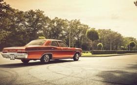 Обои фары, тень, Chevrolet, колеса, 1966, Impala, задний