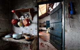 Картинка фон, посуда, old kitchen