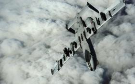 Картинка облака, штурмовик, A-10, Thunderbolt II