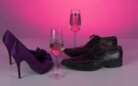 Обои вино, обувь, Flirt