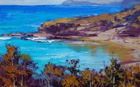 Обои рисунок, арт, artsaus, beach impression painting