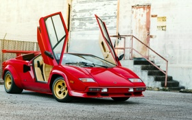 Обои Lamborghini, ламборджини, Countach, Bertone, 1982, LP5000 S
