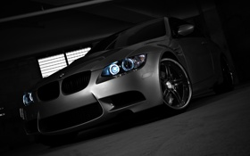 Обои silvery, бмв, BMW, серебристый, тень