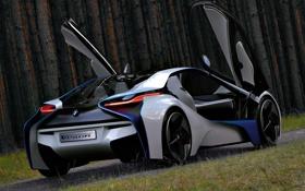 Картинка Concept, бмв, двери, BMW, концепт, Vision, задок