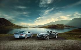 Обои природа, Porsche, порш, turbo s