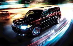 Обои Ford, свечение, flex, эффект скорости