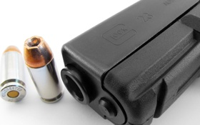 Обои пистолет, патроны, Glock 23