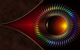 Обои цвета, круг, Абстракция