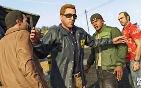 Обои франклин, gta 5, Grand Theft Auto V, майкл, тревор