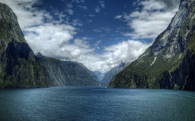 Обои море, вода, горы, фото, океан, пейзажи, гора