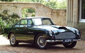 Обои авто, Aston Martin, спицы, классика, колёса, DB4