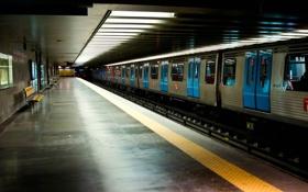 Картинка метро, поезд, станция, Лиссабон